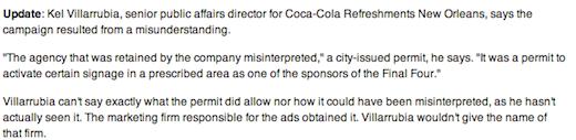 Coca Cola failed graffiti campaign