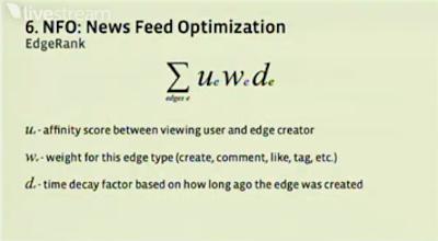 Understanding Facebook EdgeRank