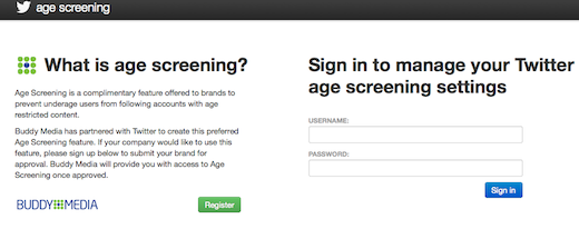 Twitter age verification tool