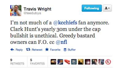 travis wright chiefs tweet