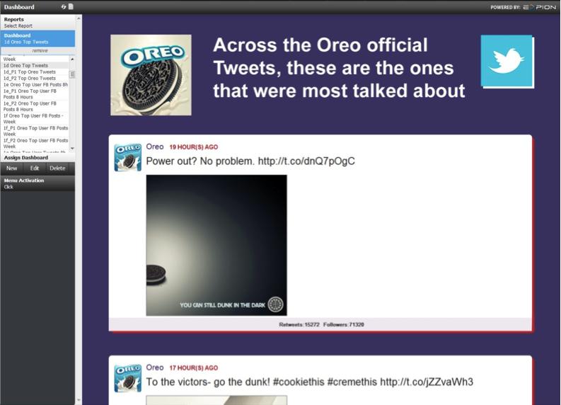 oreo super bowl tweets