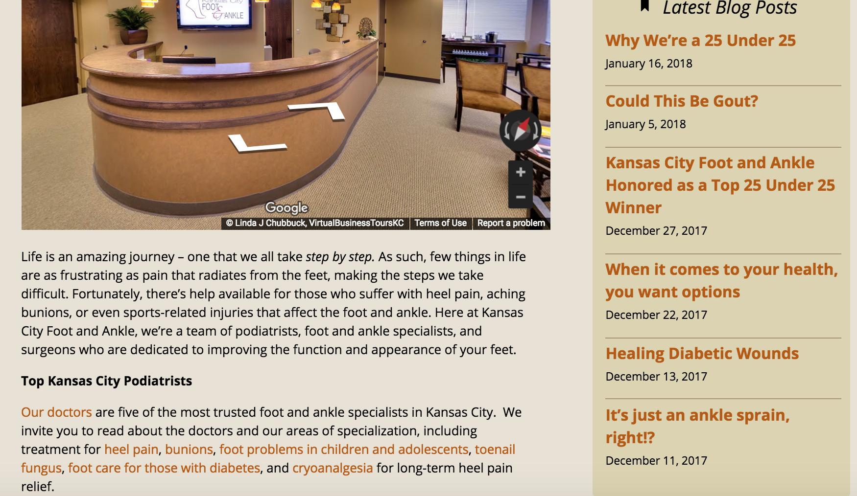 Example of blog in website sidebar